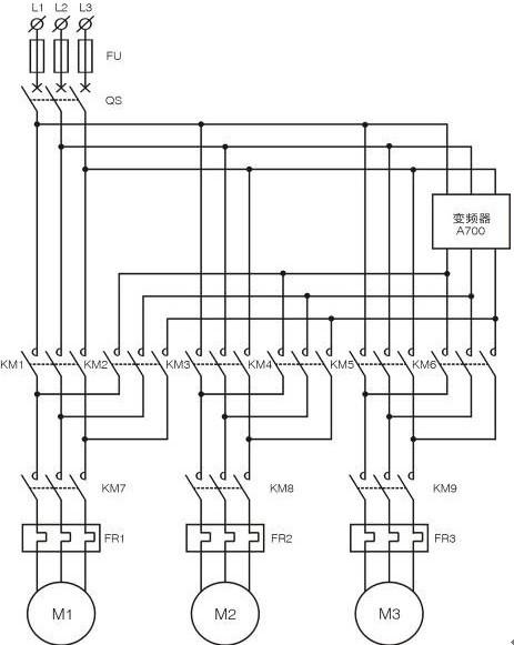 机头部分包括交流电源输出,直流电源输出,可调直电源输出,主回路线路
