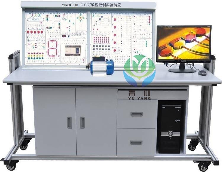 主机(从站)进行通信;、N:N通信,PLC主机与PLC主机间实现通信(总共8台PLC主机),任何一台PLC主机(主站)与7台PLC主机(从站)通信。 3、实验室局域网实验教学,假如每套PLC实验装置均配上电脑,可构成PLC实验室局域网,进行网络化教学实验。 4、层次实验教学及研究生实验除了以上常规及网络实验教学外,还能进行本科生毕业设计及研究生实验教学。 5、实验桌为铁质双层亚光密纹喷塑结构,桌面为防火、防水、耐磨高密度板;左右设有两个大抽屉(带锁),用于放置工具及资料,电脑桌联体设计,造型美观大方。