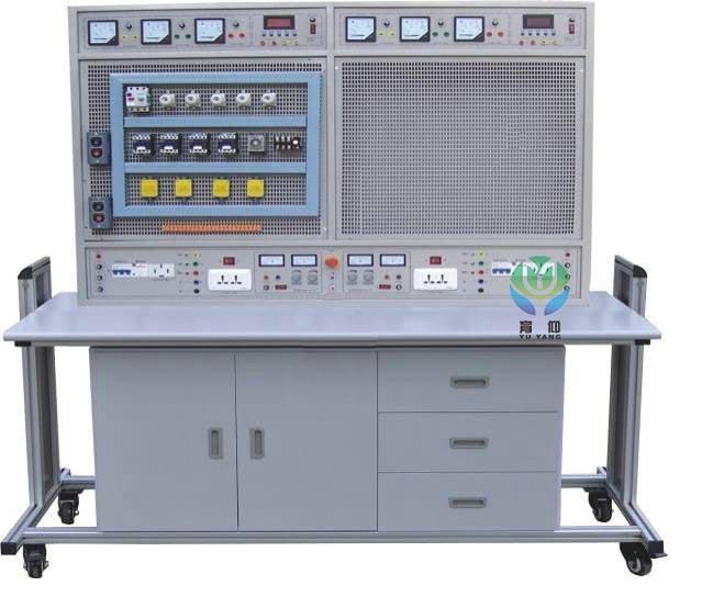 自动全程监控实训装置过载或短路,一旦发生即可自动切断电源,故障排除后方可再次启动工作电源。能确保设施和操作者安全。各电源输出均有监视功能,各测量仪表也均有可靠的保护功能。 4、实训台为四组型,每个工位配套独立电工仪表和电源,四个工位同时进行实训互不干扰。 三、技术性能: 1、工作电源:三相四线(或三相五线)~380V±5% 50Hz 2、温度:-10~40,相对湿度<85%(25) 3、装置容量:<1.