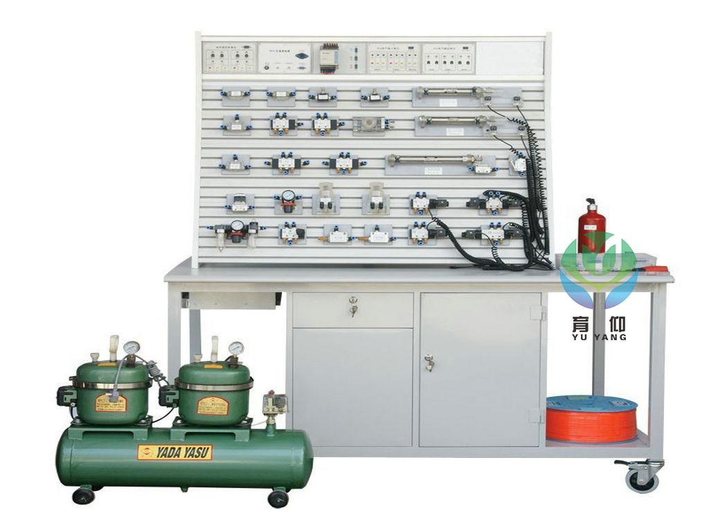 T 铝槽式铁桌气动PLC控制实验台图片