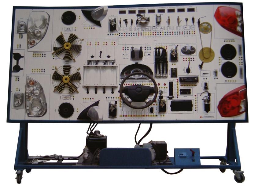 可直接在面板上检测整车电器各系统电路元件的电信号,如电阻,电压