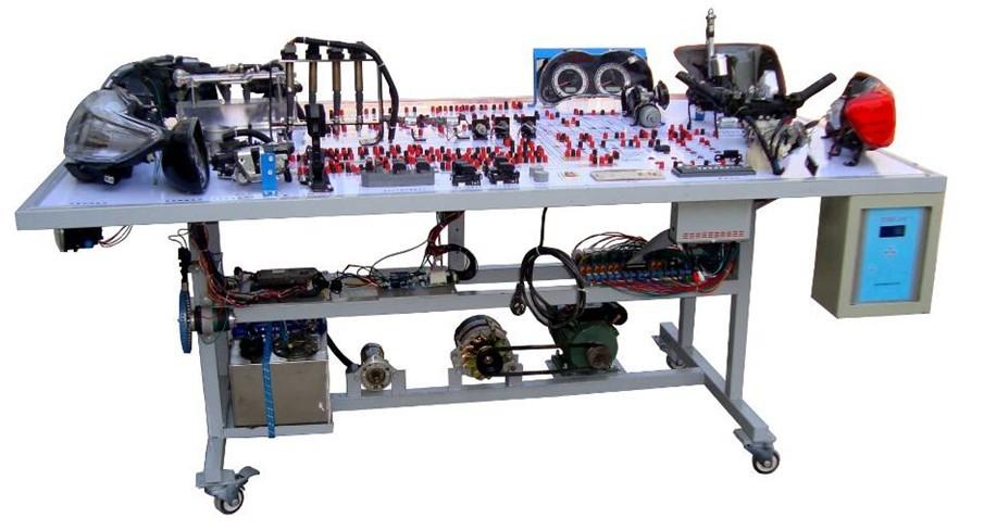 二、YUY-QC69丰田卡罗拉全车电器实训台汽车电器实训台结构组成 舒适系统、灯光系统、防盗仪表系统、点火与喷射系统、起动系统、充电系统、发动机电控系统、喇叭系统、电动车窗系统、电控门锁及后视镜系统、雨刮系统、音响系统、故障设置系统、移动台架等。面板采用2mm铝质面板,图字符号采用凹字烂板工艺制作,线条颜色永不脱落。 实训装置采用平台式结构.