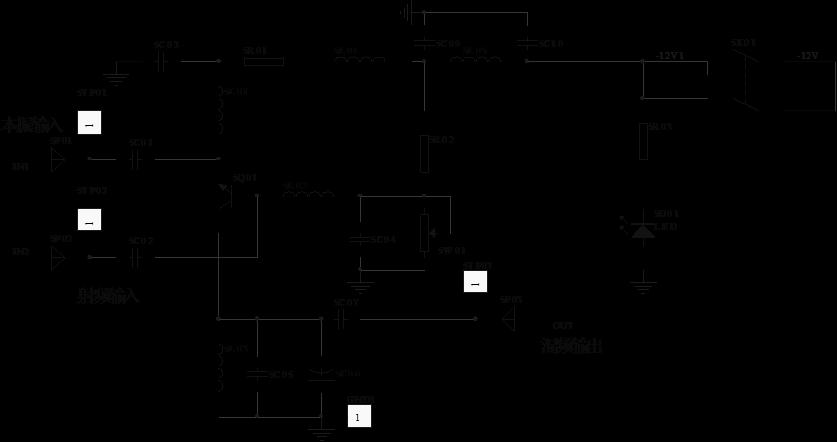 图5-2  晶体三极管混频的电路图