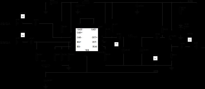 图6-2  mc1496构成的混频器电路图
