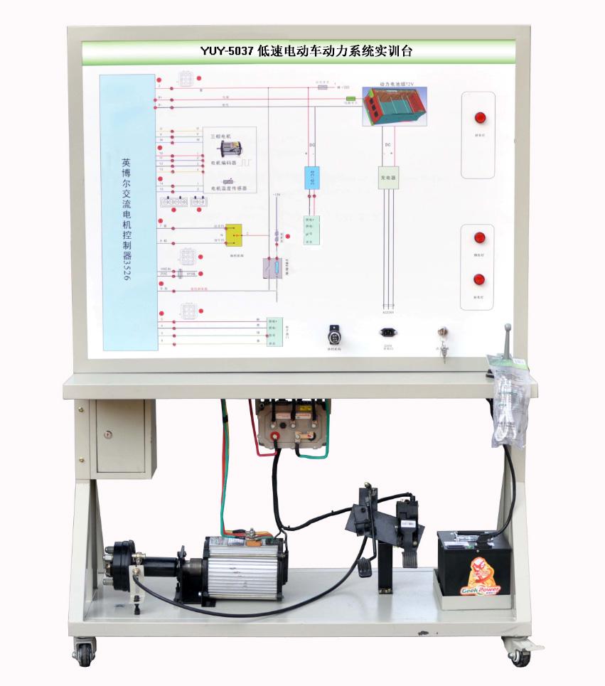 三,产品: 1,系统由交流电机,电机控制系统,加速踏板,充电系统,制动