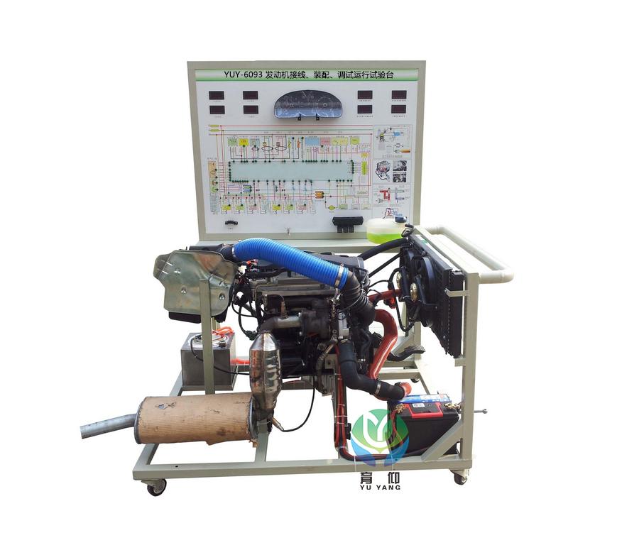 汽车发动机运行试验台,汽车发动机接线装配调试试验台图片
