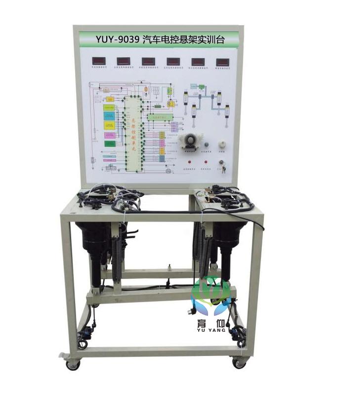 实训台面板上安装有检测端子,可直接在面板上检测空气悬架系统各电路