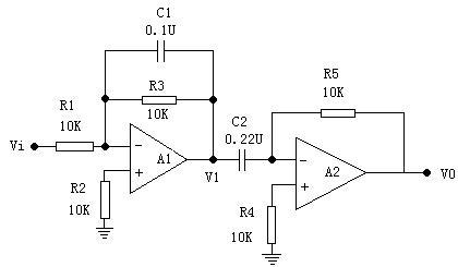 电路如图9-3所示 (1)在输入f=200hz,v=±6v的方波信号,用示波器