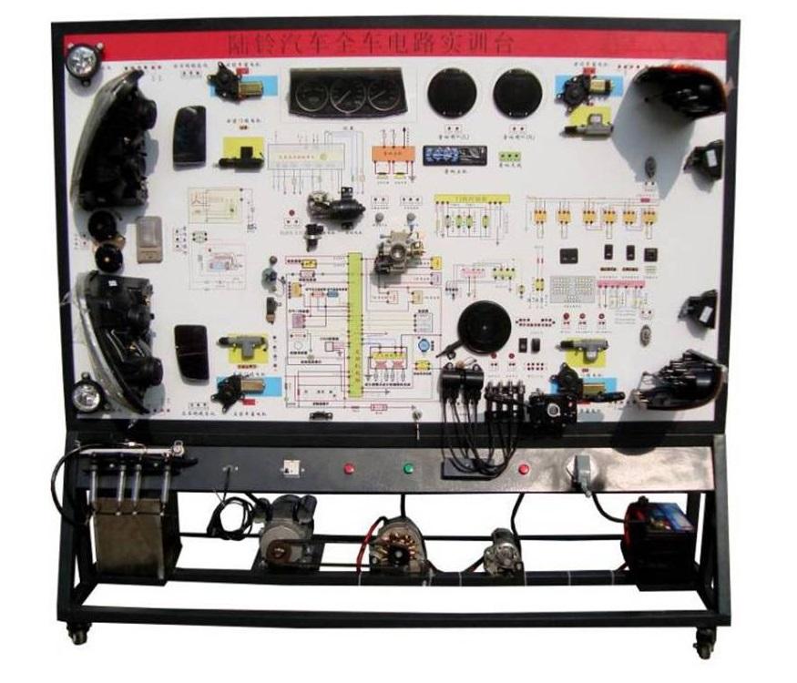 器开关,按钮,真实演示汽车发动机电控系统,仪表系统,灯光系统,雨刮