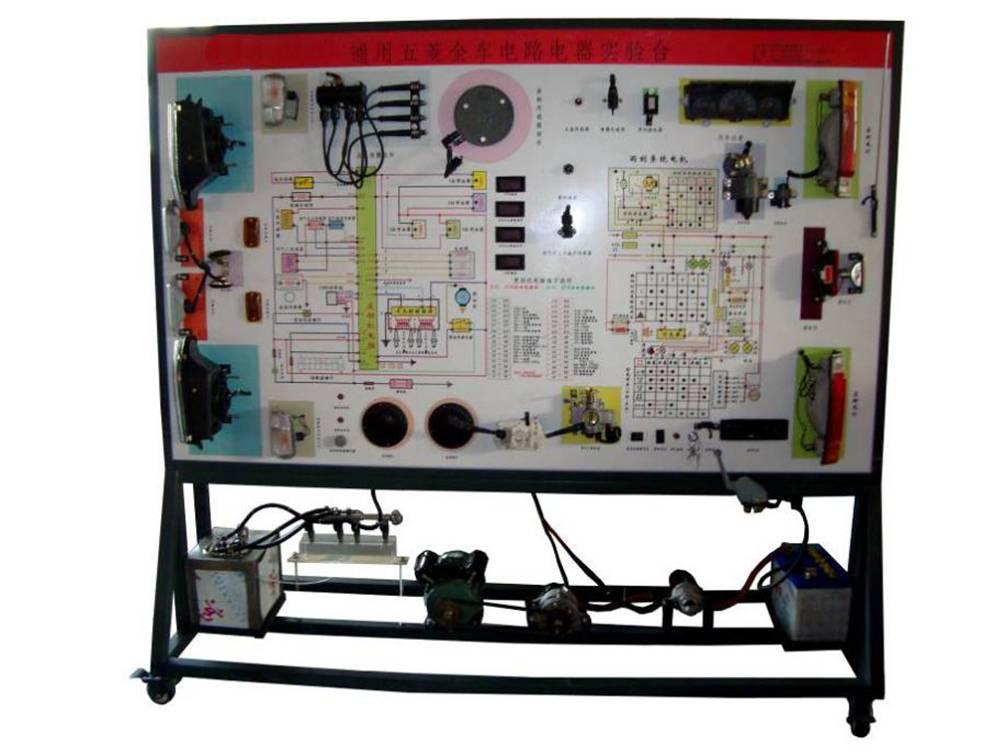 学员可直观对照电路图和实物,认识和分析汽车整车电器各系统的工作