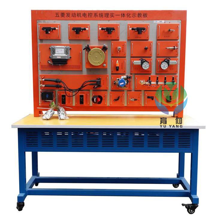 一、YUY-7056汽车传感器与执行器实训台(五菱B15)汽车示教板产品简介 该设备采用汽车传感器与执行器系统的真实部件,充分展示汽车传感器与执行器系统的组成结构和工作过程。 适用于学校对汽车传感器与执行器系统理论和维修实训的教学需要。 二.YUY-7056汽车传感器与执行器实训台(五菱B15)汽车示教板功能特点 1.