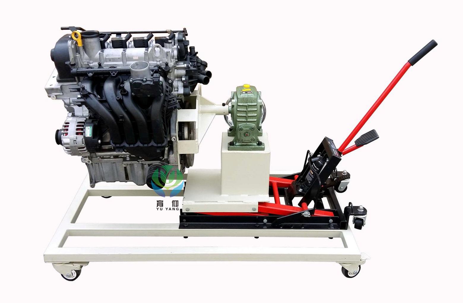 yuy-6014新捷达液压升降式发动机翻转架|拆装附翻转实训台架
