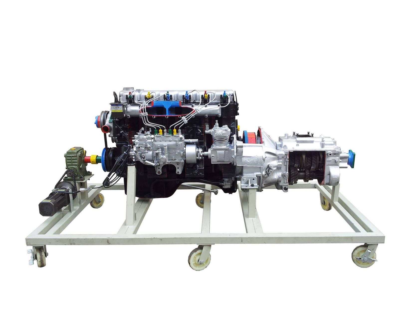 斯太尔汽车发动机与手动变速器解剖综合模型