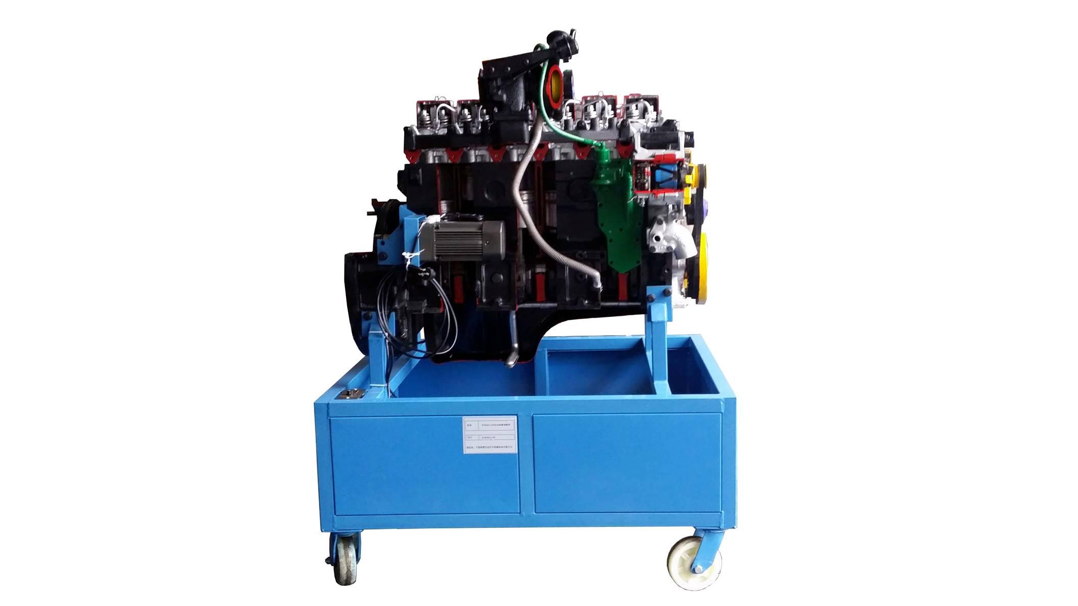 汽车发动机解剖模型(柜式底座),发动机解剖模型